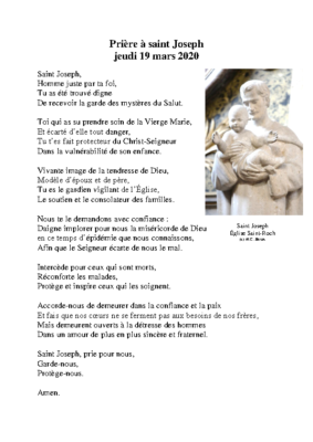 Priere à saint Joseph